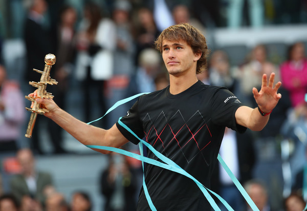 Alexander Zverev won a pair of crowns on clay this spring, including the Masters 1000 event in Madrid. Photo: Clive Brunskill/Getty Images