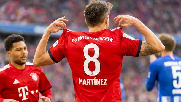 Javi Martínez celebrando un gol con el Bayern de Múnich   Fuente: FC Bayern Munich