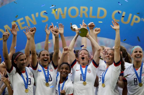 The USWNT won a second consecutive World Cup this summer, but some of the key contributors may not be back in 2023. (photo via nypost.com)