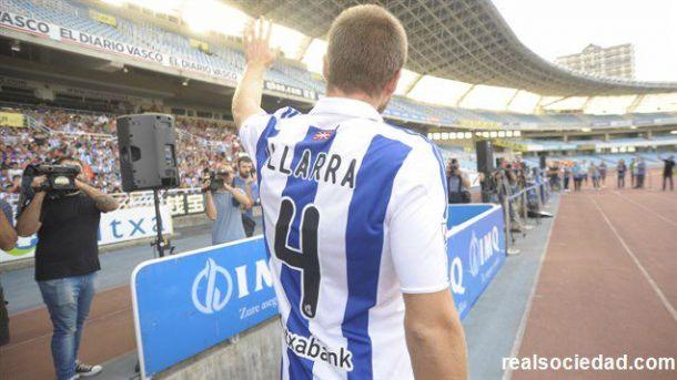 Illarra, el día de su presentación como nuevo jugador de la Real | Imagen: Real Sociedad
