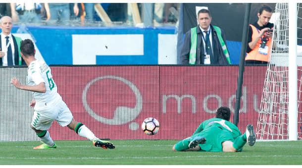Il gol di Pellegrini. Foto: Corriere dello Sport-Stadio