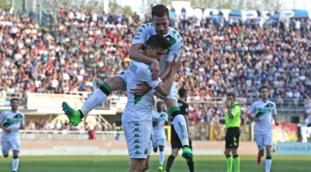 La successiva esultanza di Pellegrini. Foto: Corriere dello Sport-Stadio