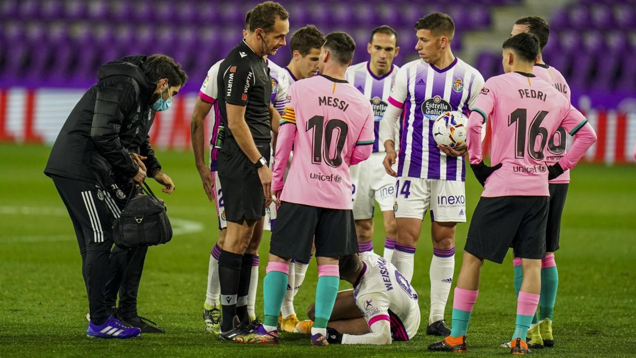 Melero López, en el partido entre el Real Valladolid y FC Barcelona | Real Valladolid