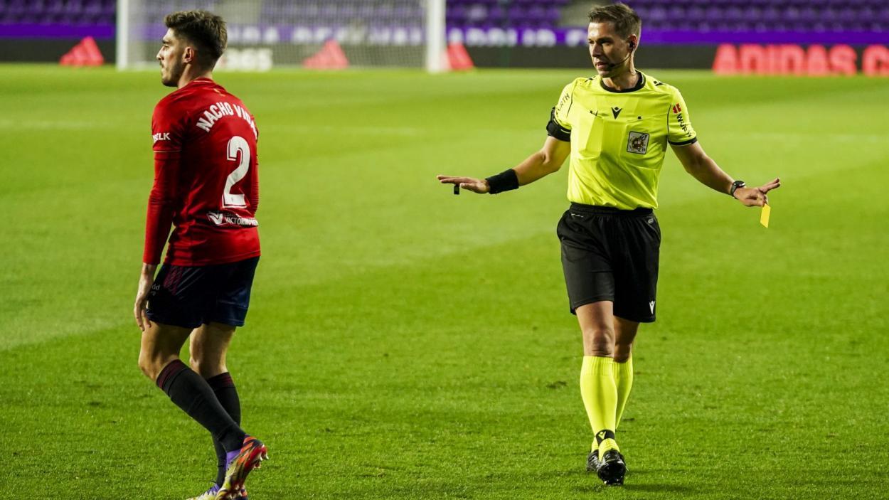 Adrián Cordero Vega en el encuentro en Zorrilla ante el Osasuna | Real Valladolid