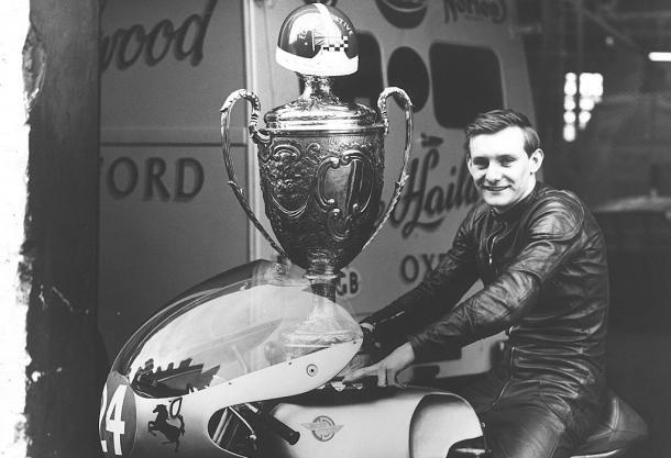 Primera victoria de Mike Hailwood en Ulster, 1959. Foto: Pinterest