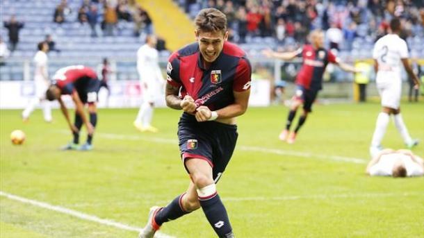 Lucas Ocampos dopo il gol all'Udinese. Fonte foto: it.eurosport.com