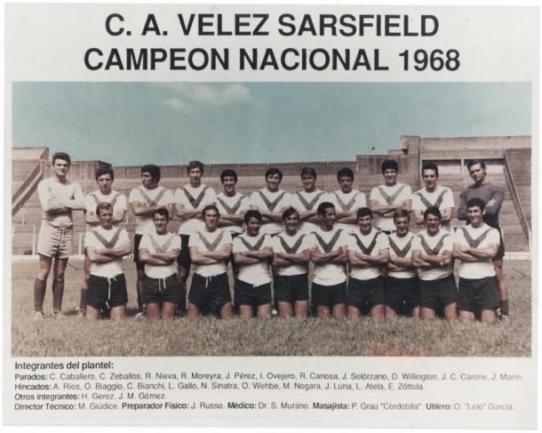 Vélez campeon en 1968 l Foto: Taringa