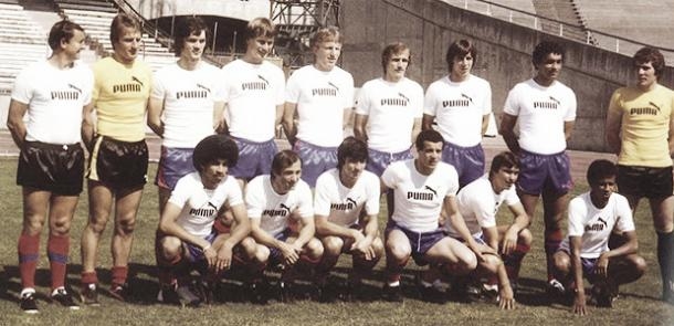 Equipo que diputó la Copa de la Liga para el Lyon en 1976. Foto: SItio oficial del Lyon