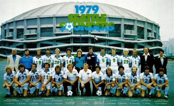 Plantilla de los Sounders en 1979 // Imagen: Seattle Sounders