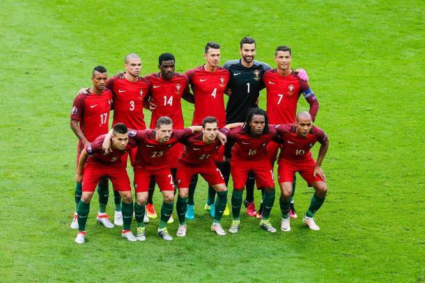 11 inicial na partida frente à França // Foto: Facebook Seleções de Portugal