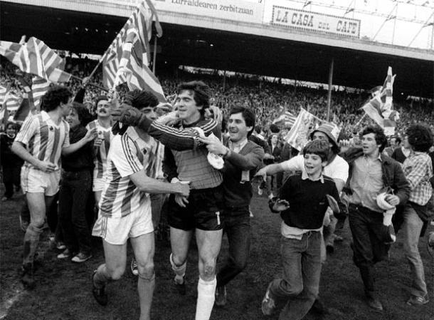 Atotxa vivió el alirón de la segunda Liga en directo y ante el Athletic de Bilbao pero a ello sumó una década llena de éxitos.