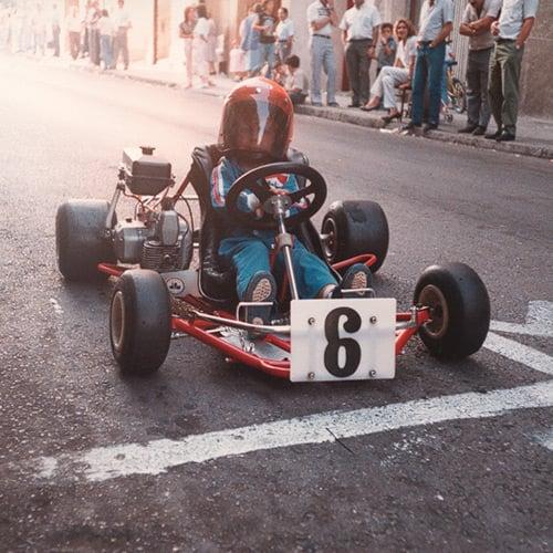 Alonso en primer kart. Foto: fernandoalonso.com