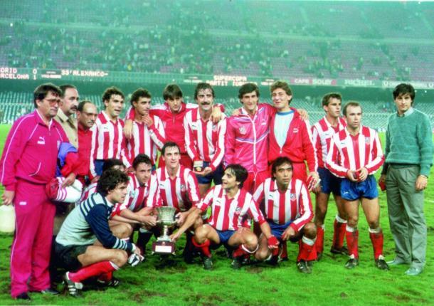 El Atlético de Madrid campeón de la Supercopa de España 1985 / Fuente: Diario As