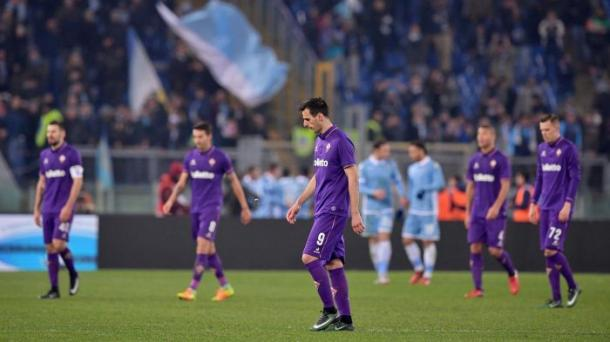 a delusione dei calciatori viola, dopo la sconfitta rimediata all'andata. Fonte foto: it.eurosport.com