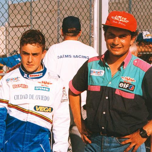 Fernando con Genis Marcó. Foto: fernandoalonso.com