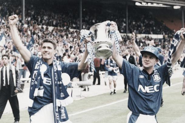 1995, the last time Everton lifted the FA Cup. Photo: Liverpool Echo.