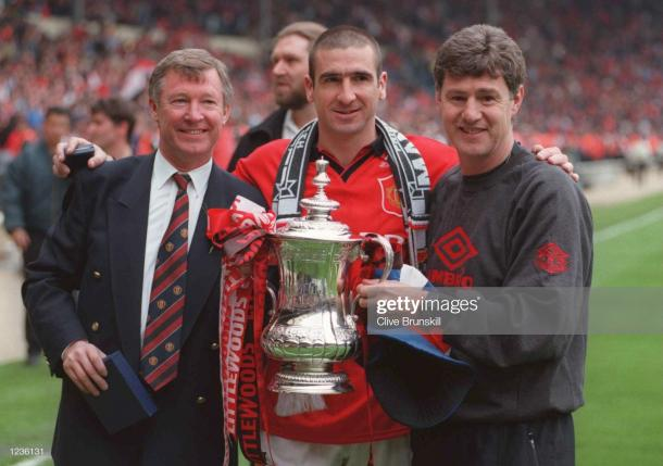 United won the 1996 FA Cup with a mix of old and young (Photo: Chris Brunskill / Getty Images)
