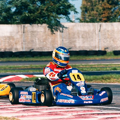 Alonso, corriendo con su número característico. Foto: fernandoalonso.com