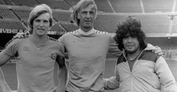 Menotti, Schuster y Maradona (foto:pasiónfútbol)