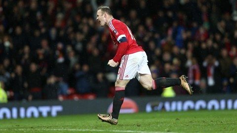 Rooney celebra su gol ante el Sheffield. Foto: Manu