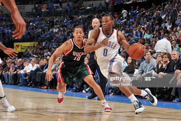 """La temporada de """"rookie"""" de Westbrook. Vía: Getty Images"""