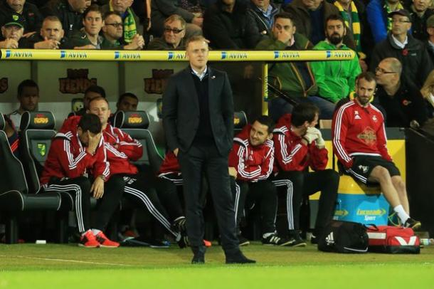 Garry Monk has been feeling the pressure in the Swansea hot seat recently. (Photo: Wales)