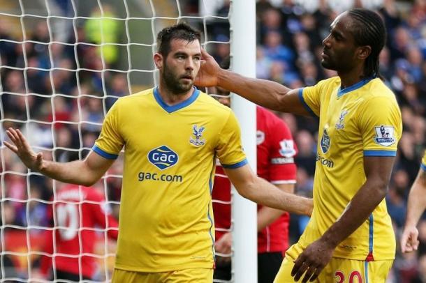 Jerome junto a Ledley, con el que se reencontrará en el Derby tras coincidir en el Crystal Palace hace cuatro temporadas   Foto: Crystal Palace