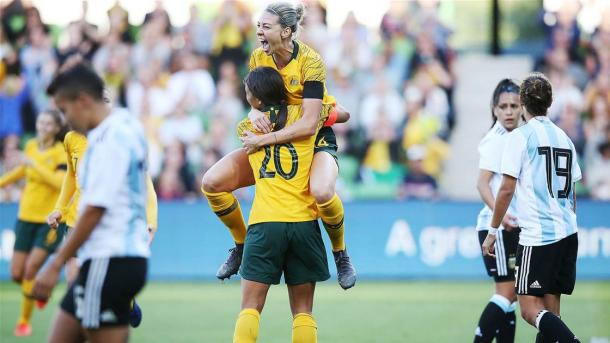 Argentina were swept aside by Australia in March | Source: thewomensgame.com