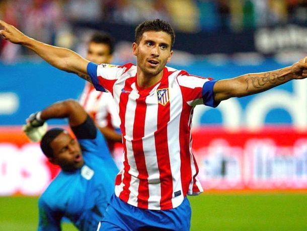 Borja Bastón celebrando un gol para el Atleti. Foto: Atleti Vavel