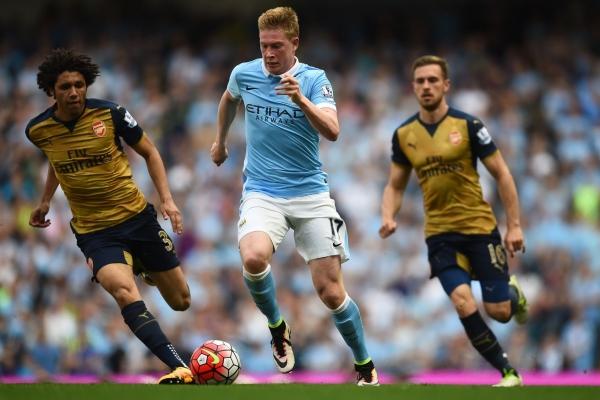 De Bruyne restores City's lead. Source: Sky Sports