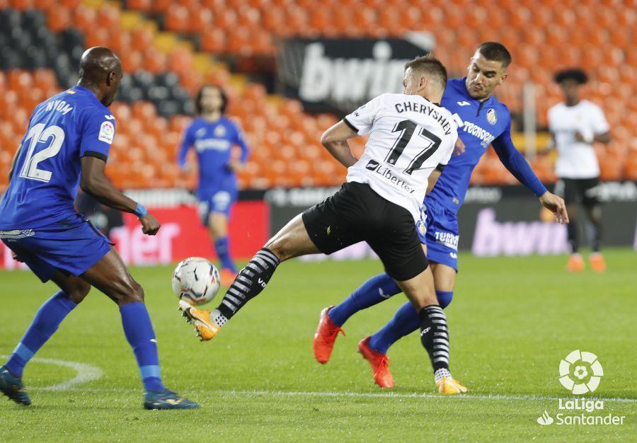 El Valencia empató en su última jornada liguera, contra el Getafe (2-2)   Foto: LaLiga.es