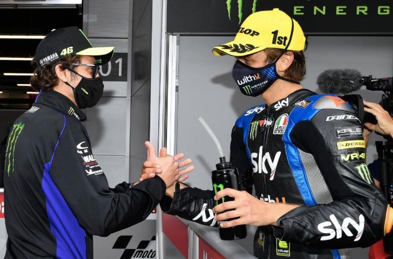 Valentino Rossi y Luca Marini / foto: motogp.com