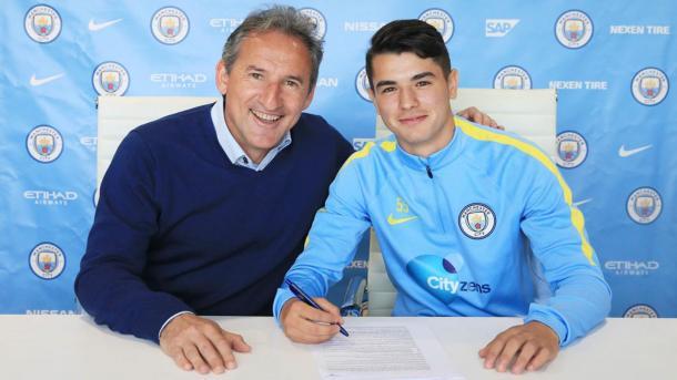 El hipano-marroquí firmó un contrato de tres años con el Manchester City en septiembre de 2016 | Foto: Web Oficial del Manchester City