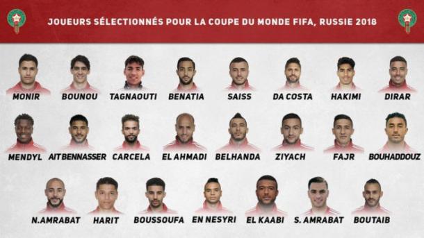 Foto: Selección de Marruecos