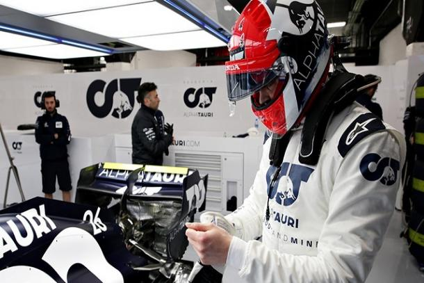 Daniil Kvyat durante los test de pretemporada. Fuente: Alpha Tauri
