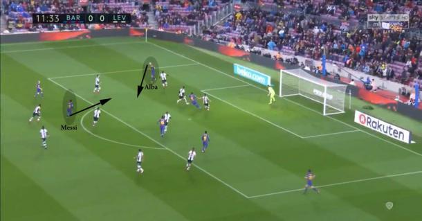Una buena conexión más entre Alba y Messi que termina en gol | Jordi Grífol - VAVEL