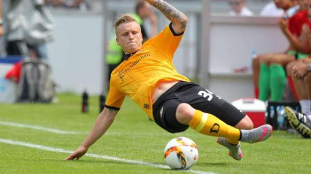 Marvin Stefaniak in action for Dynamo Dresden | Photo: Bild