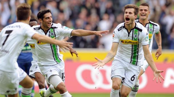 Nordtveit celebrates his goal in the reverse of this fixture, which Gladbach won 2-0. | Photo: Bild