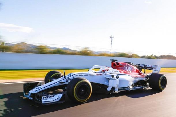 Charles Leclerc a mandos del Alfa Romeo. Fuente. Charles Leclerc website