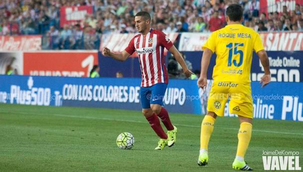 Koke en el partido de ida contra UD Las Palmas | Fotografía: Jaime del Campo (VAVEL)
