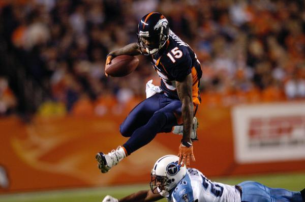 Brandon Marshall featuring for his first NFL team | Source: Hyoung Chang-The Denver Post