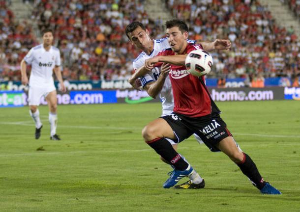 Sergi Enrich, el día de su debut como titular con el Mallorca | Imagen: Fútbol Balear