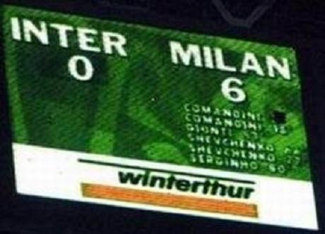 Il tabellone di San Siro la notte del trionfo rossonero. | Foto: dnamilan.com