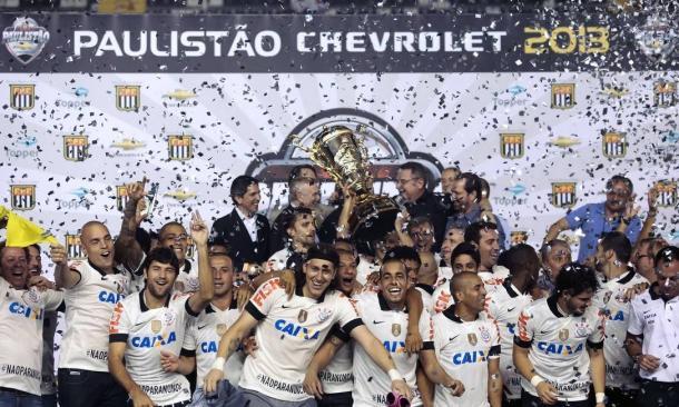 O Campeonato Paulista de 2013 foi o terceiro título seguido do Corinthians na 'Era Tite'. (Foto: FPF / Reprodução)
