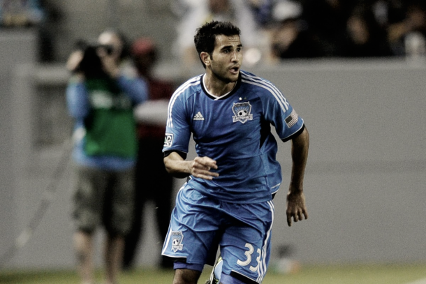 Beitashour while with his first MLS club, the San Jose Earthquakes. | Photo: Kelvin Kuo-USA TODAY Sports