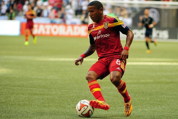 Joao Plata will need to be his usual creative and pesky self on Saturday for RSL against the Timbers. Photo provided by Anne-Marie Sorvin-USA TODAY Sports.