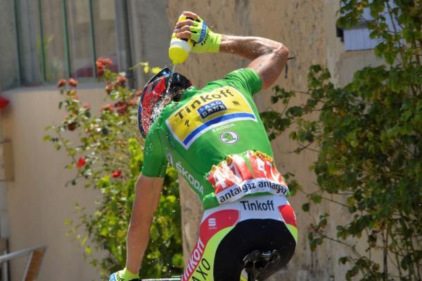 Sagan consiguió llevarse de nuevo el maillot verde del Tour   Fuente: B.Bade - ASO