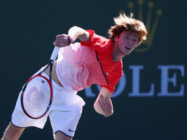 Rublev at last years BNP Paribas Open (Photo by Julian Finney/Getty Images)