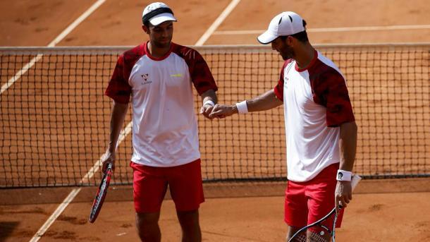 Juan Sebastián Cabal (izquierda) y Robert Farah. Foto: Archivo Colprensa