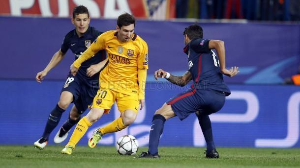Messi esteve desinspirado // Foto: fcbarcelona.com
